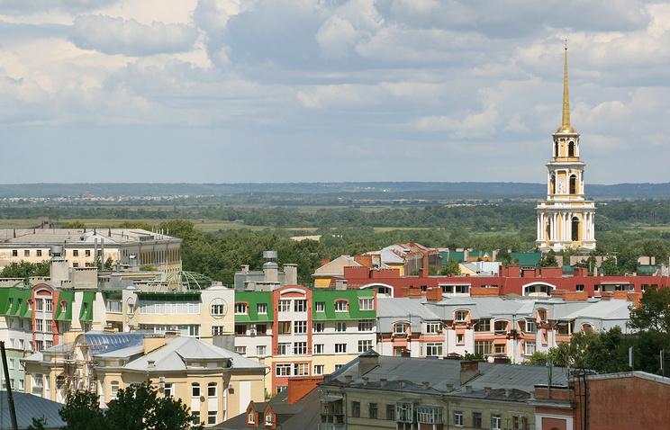 Вид города Рязань
