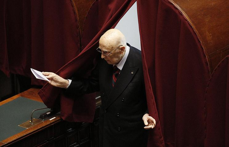 Бывший президент Италии Джорджо Наполитано