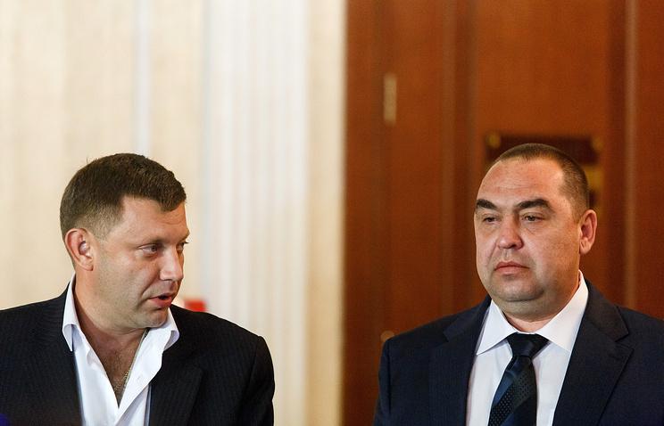 Александр Захарченко и Игорь Плотницкий