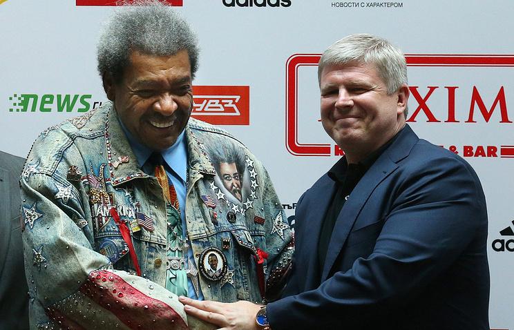 Дон Кинг (слева) и Андрей Рябинский