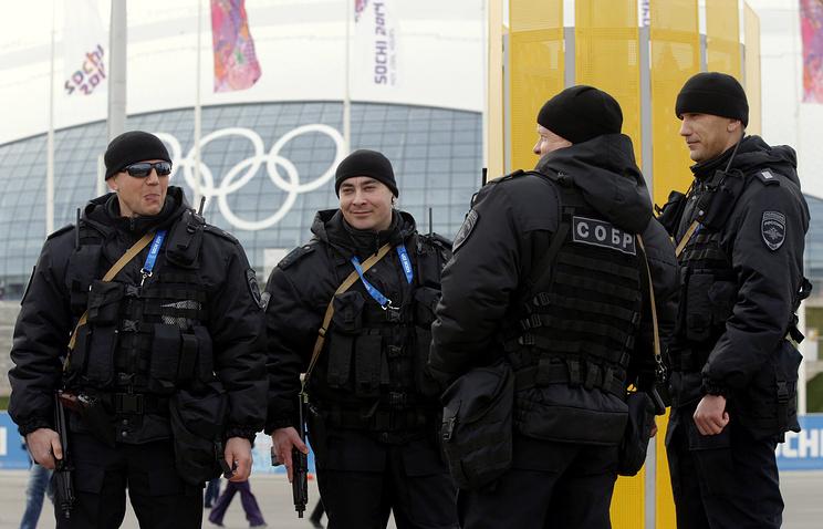 Полицейские во время Олимпийских игр в Сочи