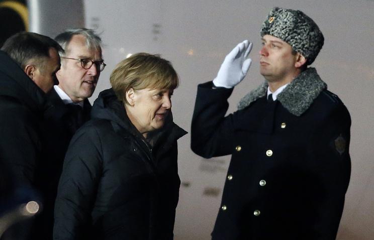 Канцлер Германии Ангела Меркель в аэропорту Внуково