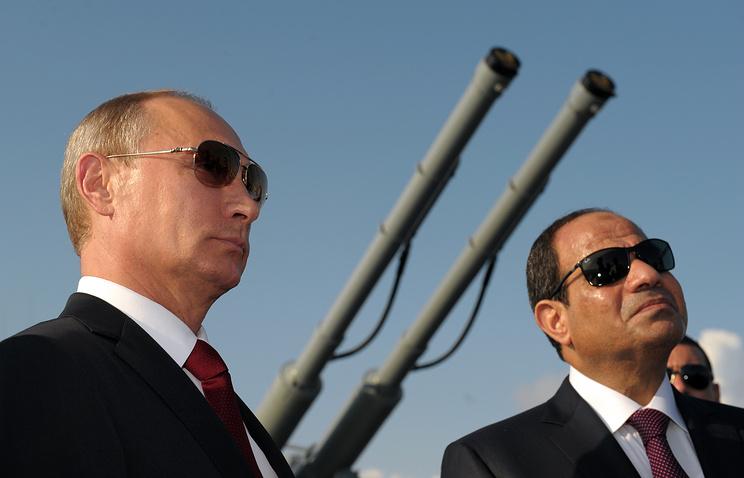 Президент России Владимир Путин и президент Египта Абдельфаттах ас-Сиси