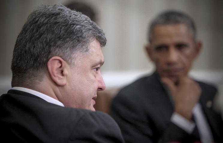 Президент Украины Петр Порошенко и президент США Барак Обама