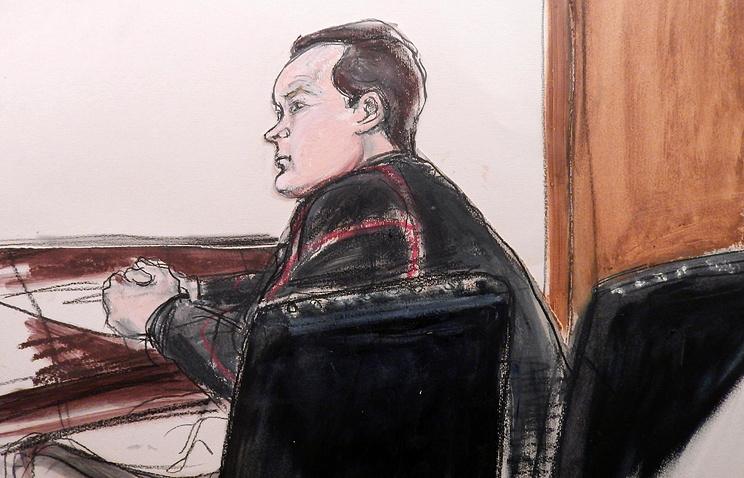Евгений Буряков в зале суда в Нью-Йорке