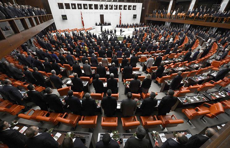 Сессия парламента Турции в Анкаре