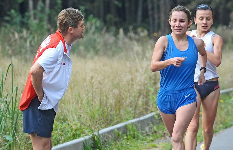 Виктор Чегин на тренировке спортсменов в центре олимпийской подготовки Республики Мордовия