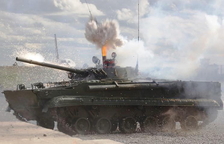 БМП-3 производства Курганмашзавода во время показательных выступлений
