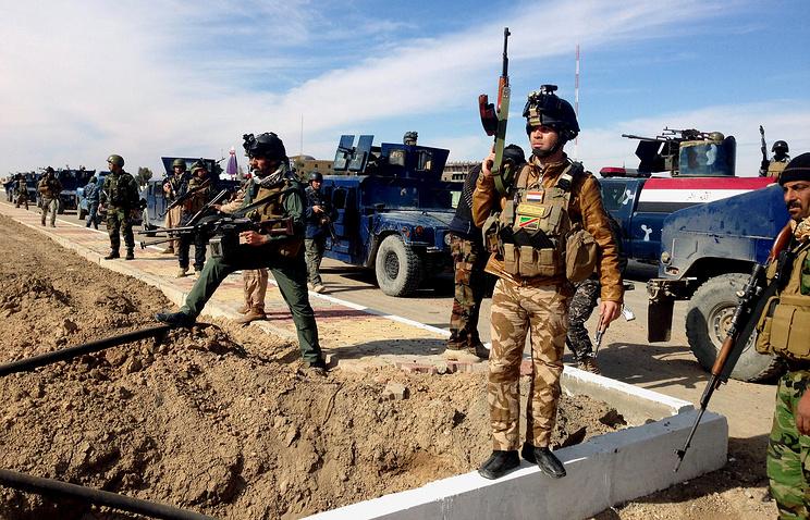 Иракские солдаты сил безопасности в Рамади