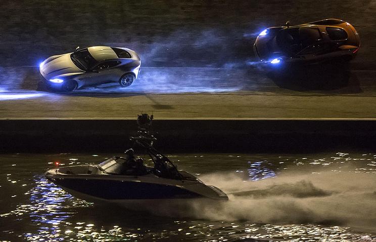"Съемки  фильма о британском секретном агенте Джеймсе Бонде ""007: Спектр"""