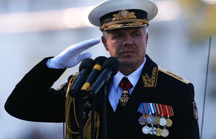 Командующий Черноморским флотом России вице-адмирал Александр Витко