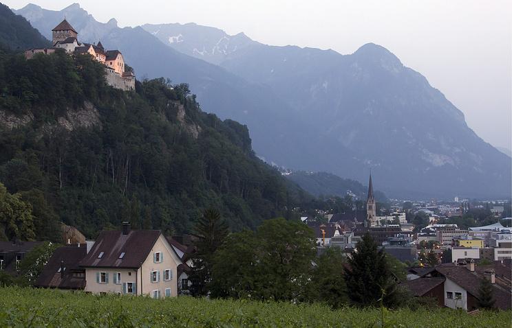 Вид на замок Вадуц
