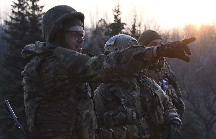 "Бойцы батальона ""Азов"" в селе Широкино"