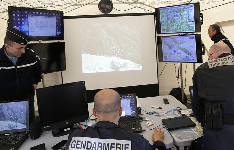 Работа французской жандармерии на месте крушения A320