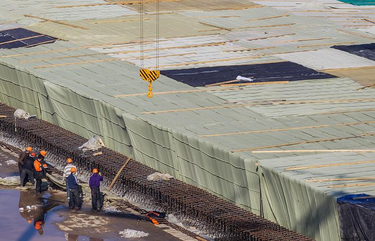 На строительной площадке стадиона к ЧМ-2018 в Самаре