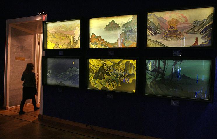 """Выставка """"75 лет Пакту Рериха"""" в Музее имени Н.К. Рериха, 2010 год"""