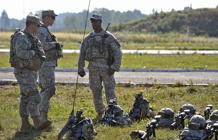 Американские военнослужащие в рамках учений во Львовской области, 2014 год