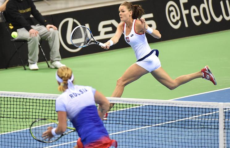 Матч Кубка Федерации по теннису: Агнешка Радваньская - Светлана Кузнецова