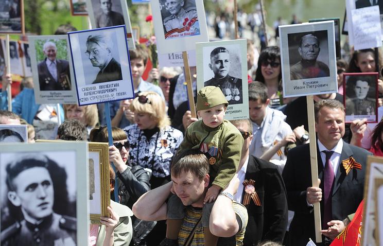 """Акция """"Бессмертный полк"""" в Волгограде, 9 мая 2014 года"""