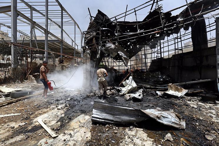 Последствия бомбардировок Саудовской Аравии в столице Йемена