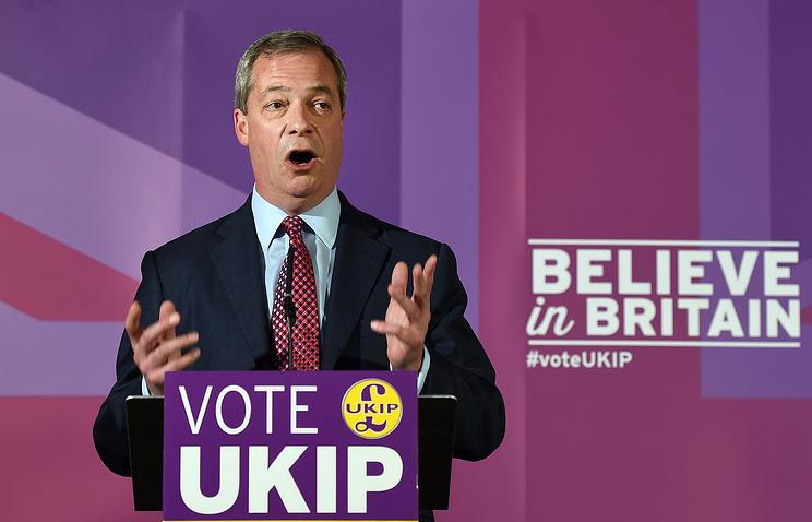 Лидер Партии независимости Соединенного Королевства (UKIP) Найджел Фараж