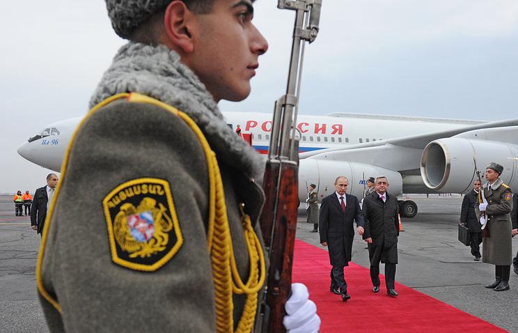 Президент России Владимир Путин и президент Армении Серж Саргсян, 2013 год