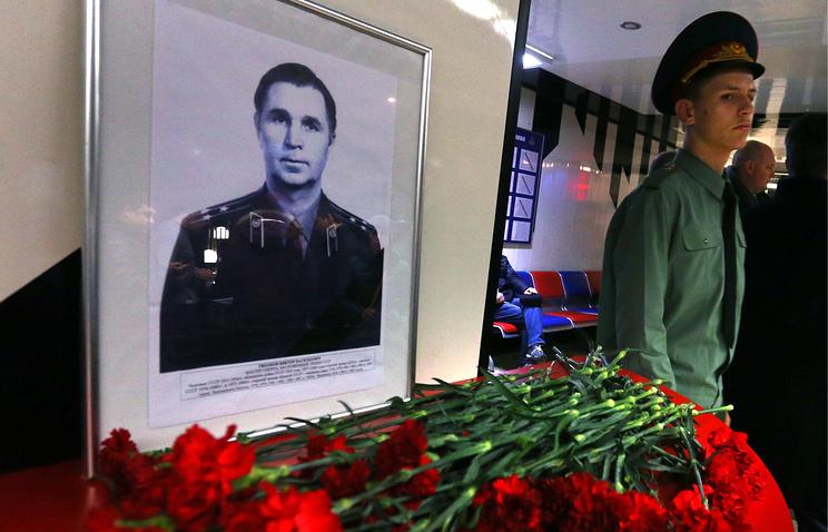 Портрет Виктора Тихонова в ЛДС ЦСКА