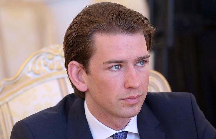 Министр иностранных дел Австрии Себастьян Курц