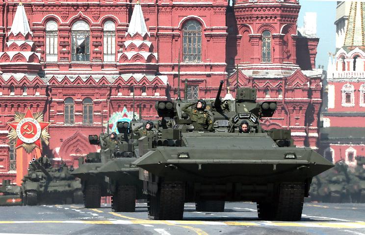"Колонна тяжелых боевых машин пехоты на базе ""Армата"""