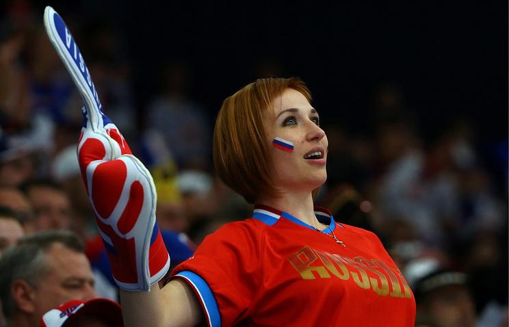 Поклонница сборной России на чемпионате мира в Чехии