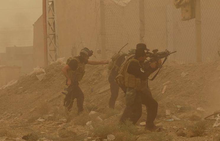 Силы иракской армии в городе Рамади