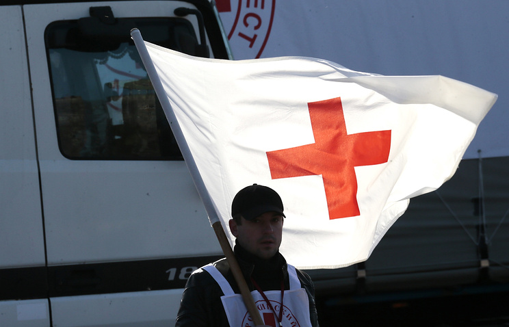 Второй гуманитарный конвой отделения Российского Красного Креста для жителей Донбасса