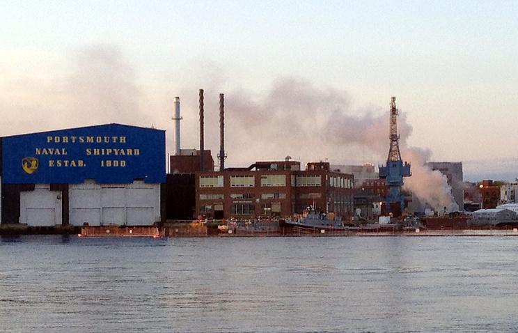 Последствия пожара на военно-морской верфи в Киттери, 23 мая 2012 года