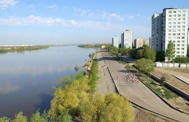 Вид на набережную реки Иртыш. Омск