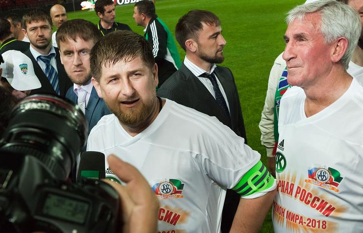 Матч звезд мирового футбола на открытии стадиона им.Ахмата Кадырова в Грозном