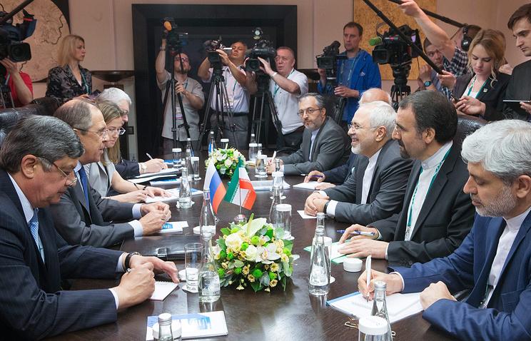 Переговоры главы МИД России Сергея Лаврова с главой МИД Ирана Джавадом Зарифом