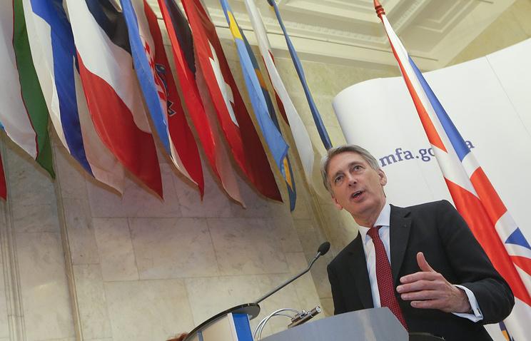 Глава МИД Соединенного Королевства Филип Хаммонд