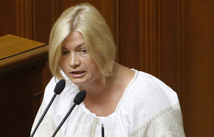 Представитель Украины в рабочей подгруппе по гуманитарным вопросам контактной группы Ирина Геращенко