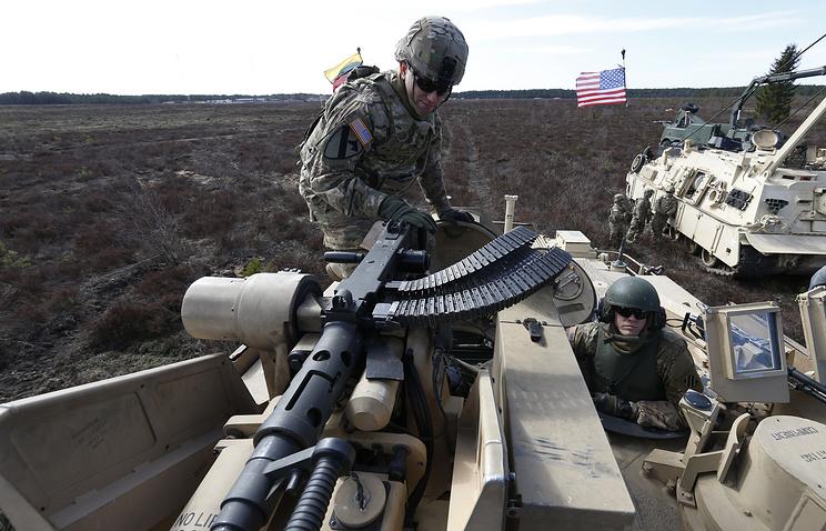 Военнослужащие США во время учений в Литве