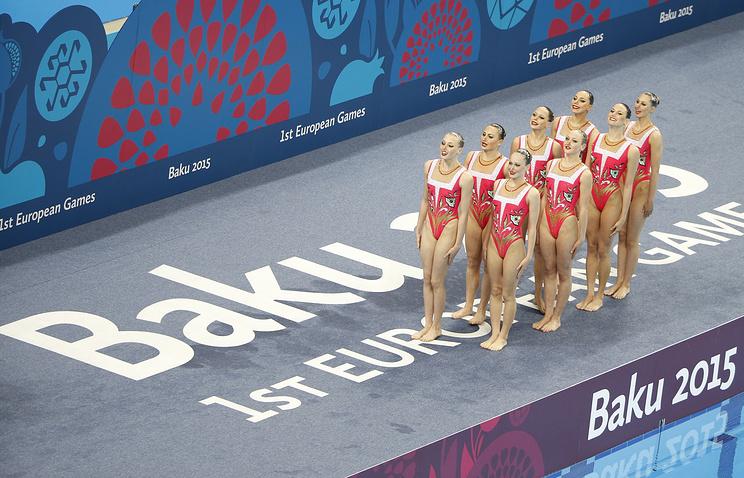 Синхронистки сборной России на I Европейских играх в Баку