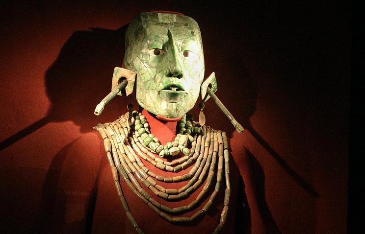 Маска короля Пакаля в Национальном музее Мехико