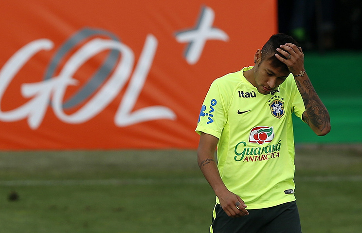 Нападающий сборной Бразилии Нейма