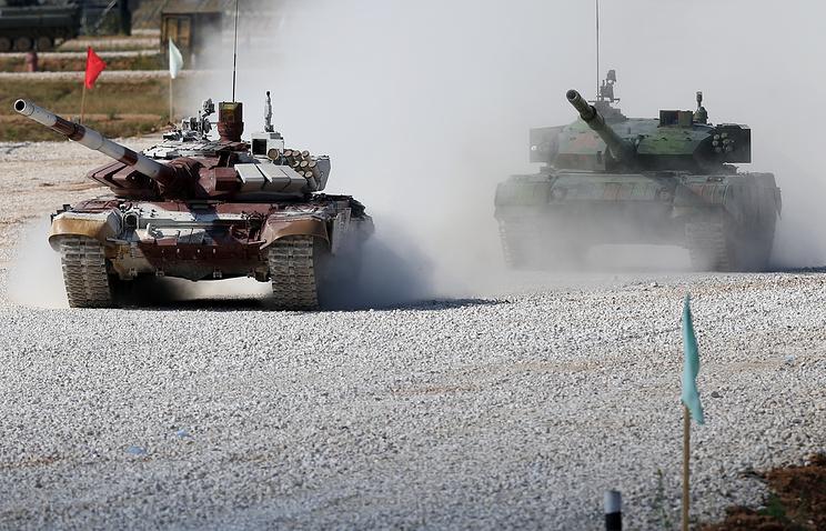Соревнования по танковому биатлону