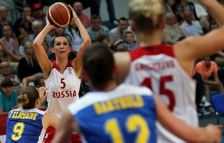 Игрок сборной России Евгения Белякова