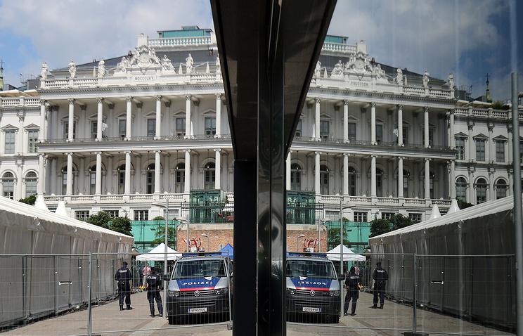 Дворец Кобург в Вене, где проходят переговоры по ядерной программе Ирана