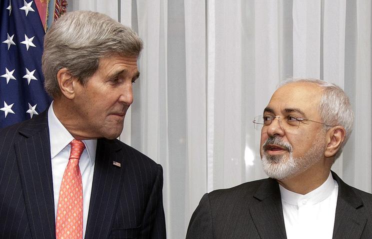 Госсекретарь США Джона Керри и министр иностранных дел Ирана Мохаммад Джавад Зариф