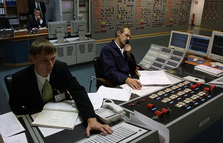 На блочном щите управления на Волгодонской АЭС