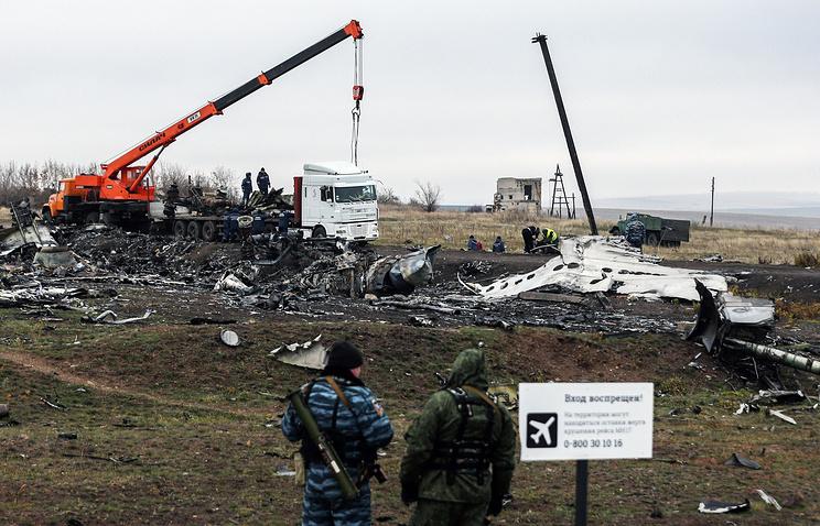 На  месте падения Boeing 777  в Донецкой области, 16 ноября 2014 года