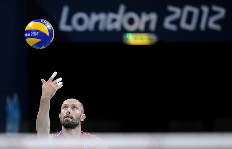Сергей Тетюхин в финальном матче волейбольного турнира на Олимпиаде-2012