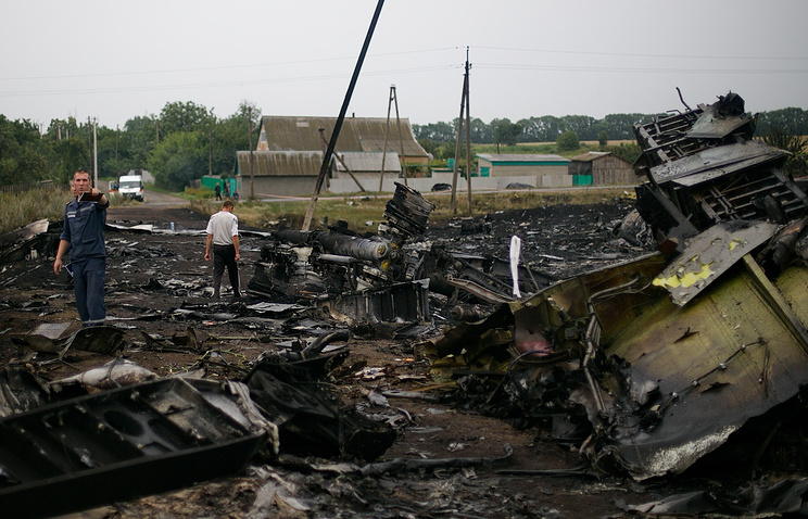 На месте крушения малайзийского Boeing 777 в Донецкой области